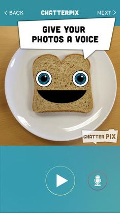 ChatterPix - by Duck Duck Moose ($0.00) Simply take any photo, draw a line to make a mouth, and record your voice. Then share your Pix with friends and family as silly greetings, playful messages, or creative cards. And best of all, it's FREE!