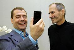 Medvedev at Apple 24 June 2010 All About Steve, Steve Jobs Apple, Ronald Wayne, Steve Wozniak, Rare Photos, Hollywood, Gravel Patio, Apple Computers, Technology