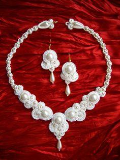 18000,- Menyasszony sujtás szett , Ékszer, óra, Esküvő, Ékszerszett, Esküvői ékszer,  RENDELÉSRE készítem ezt a gyönyörű sujtás menyasszonyi ékszert! Saját tervezés. Igazán m..., Meska