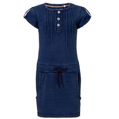 A denim dress is a must-have for your little fashionista's wardrobe. Noppies dress Liv is made of jersey fabric, but its wash makes it look like a real denim dress. It has short sleeves and an elastic band with a drawstring. The pleats and buttons add a feminine touch. However, the large pockets on the skirt add a cool edge.Good to know: for girls, short sleeves, round neckline, elastic band, comfortable. #noppies #kidsfashion #girls #coolgirls #polkadots #ss15 #summer #spring…