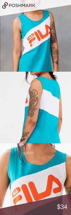 Price Drop🔥Super Deal🔥Today Only🔥 Fila UO Dress Perfect for Beach or Pool Party! Trendy Upscale Italian Sportswear Label Fila + American Hipster Beand UO color co-designed this super Sportsy Color Block Summer Dress., Urban Outfitters Swim Coverups