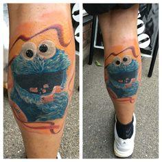 #cookie #monster #tattoo #painful #art #manu #thecookiemonster #painfulartmanu