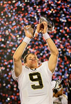Drew Brees - love this man, love this moment