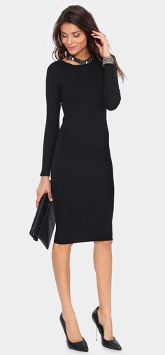 Every closet should have a simple black sweater dress Andi Sweater Dress
