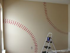 Actual blog with instructions for painting baseball wall