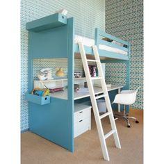 Lit mezzanine Liso avec bureau