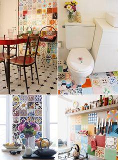 Adesivos de azulejos mudando a decoração da casa!