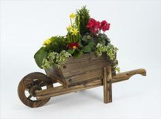 decorate wood items for the yard | Wooden Wheelbarrow Planters For Sale