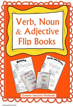 This is a FREE (!) verb, noun, and adjective grammar resource. They are interactive notebook flip books that are really engaging for teaching grammar concepts :)