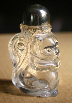 Vintage Avon Squirrel Glass Perfume Bottle.