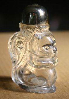 Vintage Avon Squirrel Glass Perfume Bottle.