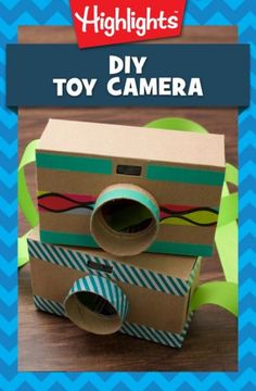 DIY Toy Camera Calling all shutterbugs! This adorable camera is perfect for little ones who want to take photos but aren't ready to handle the real thing. Make this craft together, and then talk about. Photography Gear, Photography Equipment, Creative Photography, Children Photography, Camping Photography, School Photography, Family Photography, Cardboard Camera, Cardboard Toys