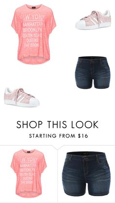 """new york"" by nada33174 on Polyvore featuring mode, Replace, LE3NO et adidas"