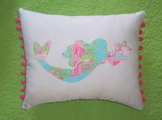 Mermaid Nursery Decor: Lilly Pulitzer Handmade Mermaid Pillow