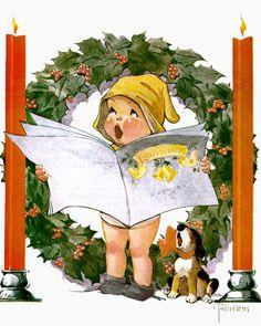 Christmas Carolers. Charles Twelvetrees