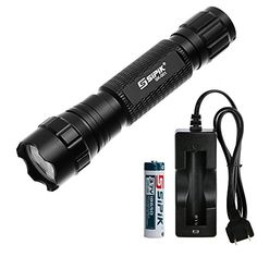 Sipik SK-001 led Flashlight CREE XM-L T6 Led 5 Mode Included 18650 Battery and Charger ,FREE 1-Year Warranty Sipik http://www.amazon.com/dp/B01ASWFFOK/ref=cm_sw_r_pi_dp_7TD6wb1XJZ13K