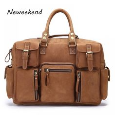 Cheap travel bag, Buy Quality hot sale directly from China travel bag men Suppliers: NEWEEKEND Genuine Leather Cowhide Crazy Horse Multi-Pocket 15 Inch Shoulder Handbag Crossbody Briefcase Laptop Bag for Man 3061 Handbags For Men, Travel Handbags, Briefcase For Men, Leather Briefcase, Business Briefcase, Mens Travel Bag, Travel Bags, Large Bags, Laptop