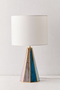 Shop Gabriella Stained Glass Table Lamp at Urban Outfitters today. Stained Glass Lamp Shades, Stained Glass Table Lamps, Stained Glass Church, Stained Glass Christmas, Stained Glass Crafts, Faux Stained Glass, Stained Glass Designs, Stained Glass Patterns, How To Do Stained Glass Diy