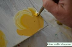 How to Paint a Yellow Rose, step by step, easy to follow, FlowerPatchFarmhouse.com