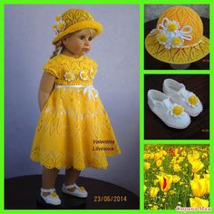 """В Комплект """"Солнышко"""" входят """"Платьице для маленькой красавицы"""", шляпка и туфельки."""