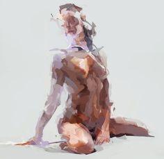 "idreamofaworldofcouture: ""Digital Paintings by Mateja Petkovic "" S✧s ReMix Figure Painting, Figure Drawing, Painting & Drawing, Petkovic, Figurative Kunst, Art Graphique, Life Drawing, Erotic Art, Love Art"