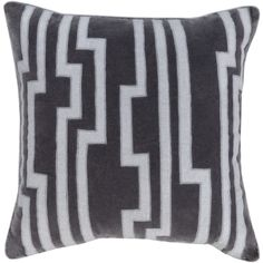 Velocity Pillow in Black & Medium Grey design by Candice Olson