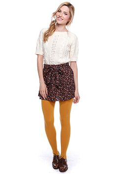 How to mustard wear colored tights pictures