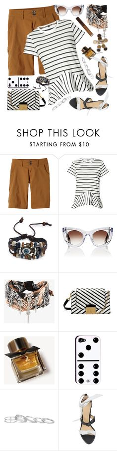 """""""Bandanna/Shorts/Stripes"""" by petalp ❤ liked on Polyvore featuring prAna, Proenza Schouler, Thierry Lasry, DANNIJO, Mulberry, Burberry, Kendra Scott, Alexandre Birman and shorts"""