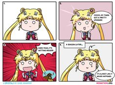 Cute and hilarious Sailor Moon comic strips/webcomics by Chibi Jennifer. Pretty Guardian Sailor Moon Crystal and Sailor Moon humour updated regularly. Sailor Moon Meme, Sailor Moons, Sailor Moon Manga, Sailor Moon Cosplay, Watch Sailor Moon, Sailor Moon Villains, Sailor Moon Kristall, Sailor Moon Wallpaper, Moon Pictures
