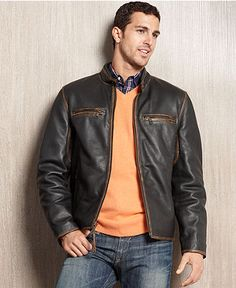 RONNIE LEATHER JACKET on Belstaff (I like the cut but the color is ...