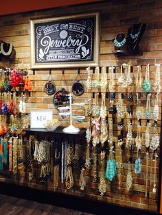 Jewelry wall - an idea for a large craft show or trade show booth