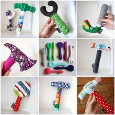 Tool rattles (baby sewing project)