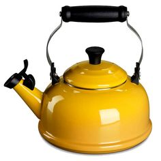 Yellow Kettle (Le Creuset Whistling Tea Kettle)