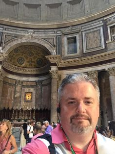 First ever selfie - figured the Pantheon in Rome was a good place to start