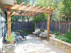Small Backyard Design Ideas #6- Like the stone retaining wall