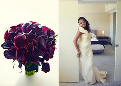 deep purple bridal bouquet | Alexis & Jason's Modern, Chic Washington DC Wedding at the W Hotel | Images: JPix Photography