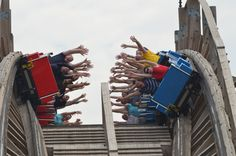 The rather extraordinary looking 'High Five' wooden coaster at Happy Valley Wuhan, China