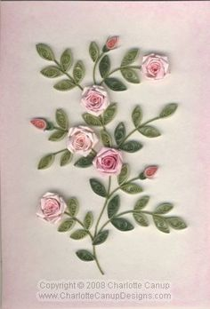 Image detail for -Kelsey's Wedding Roses - Quilled Creations Quilling Gallery