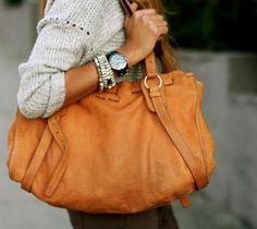 Miu Miu bag for casual days Miu Miu Purse, Mode Style, Style Me, Look Fashion, Womens Fashion, Latest Fashion, Orange Bag, Orange Handbag, Shoes