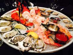 Raw bar at #BlueFin. #seafood #raw #crab #food #lobster #oysters #clams #shrimp #timessquare #nyc #newyorkcity