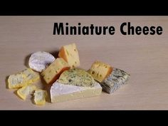Polymer Clay Tutorial; 4 Simple Types of Cheese - YouTube