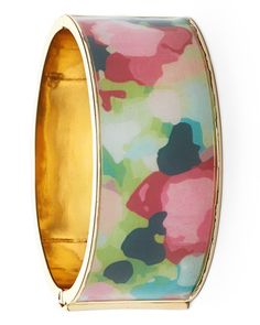 This pink & green hinged bangle is the on the list of favorites for spring.