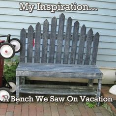 Creative Country Mom's Garden: My DIY Picket Fence Bench, A Lowes Creative Ideas Project!