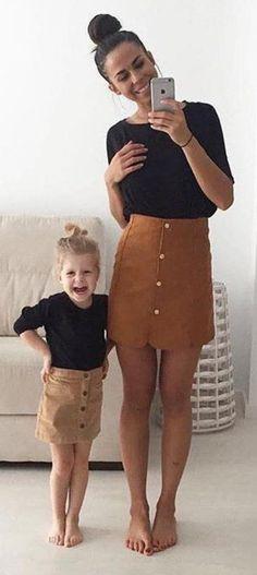 #thanksgiving #fashion · Camel Skirt // Black Top