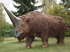Elasmotherium, a very large rhino-like creature that roamed the open steppes and grasslands of central Asia in prehistoric times.