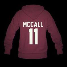 SCOTT MCCALL 11 HOODIE TEEN WOLF BEACON HILLS LACROSSE