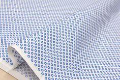 Japanese Fabric Suzuko Koseki little circle - blue by MissMatatabi on Etsy https://www.etsy.com/listing/220631488/japanese-fabric-suzuko-koseki-little