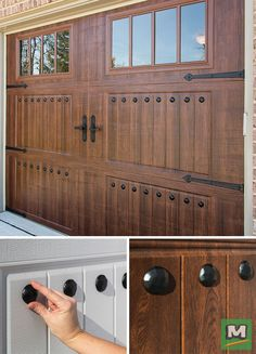 Transform your garage door in seconds with this magnetic clavos set from Hardware®! It includes eight decorative nail heads, all backed with magnets for quick and easy installation. No drilling necessary! Use these clavos alone or with one o
