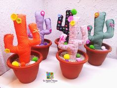 Te Fieltro Muxo: Cactus de Tela