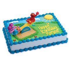 Sesame Street Elmo and Abby Cadabby Cake Topper by BigCatCrafts, $7.95